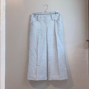 Express, gray editor culotte dress pants